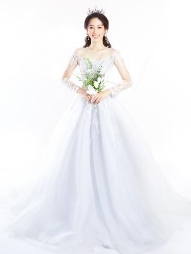 Á hậu Phương Nga hóa cô dâu xinh đẹp, lộng lẫy - Ảnh 9.