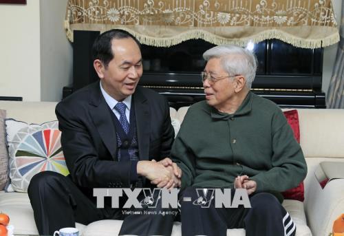 Chủ tịch nước thăm, chúc Tết nhân sĩ trí thức - Ảnh 3.