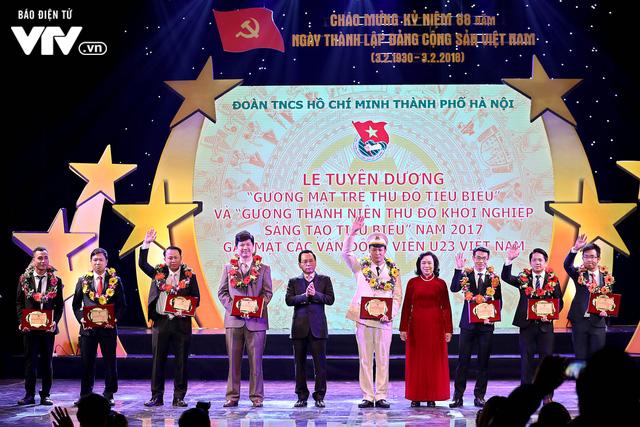 Hà Nội trao biểu tượng Thánh Gióng cho 5 cầu thủ U23 Việt Nam - Ảnh 13.
