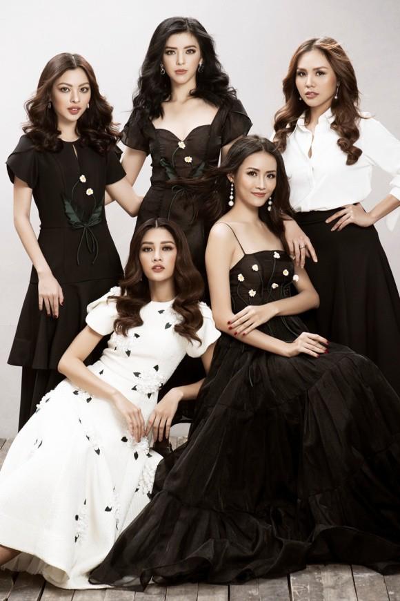 Hội chị em The Face nổi bật trong trang phục đen trắng - Ảnh 1.