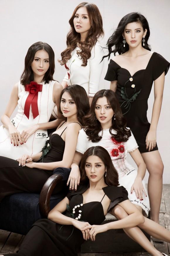 Hội chị em The Face nổi bật trong trang phục đen trắng - Ảnh 2.