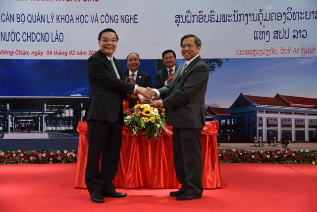 Việt Nam – Lào ký biên bản bàn giao Trung tâm đào tạo cán bộ quản lý KH&CN - Ảnh 6.
