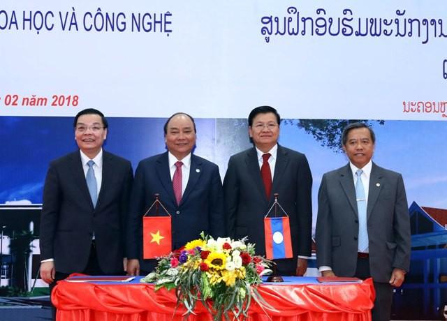 Việt Nam – Lào ký biên bản bàn giao Trung tâm đào tạo cán bộ quản lý KH&CN - Ảnh 5.