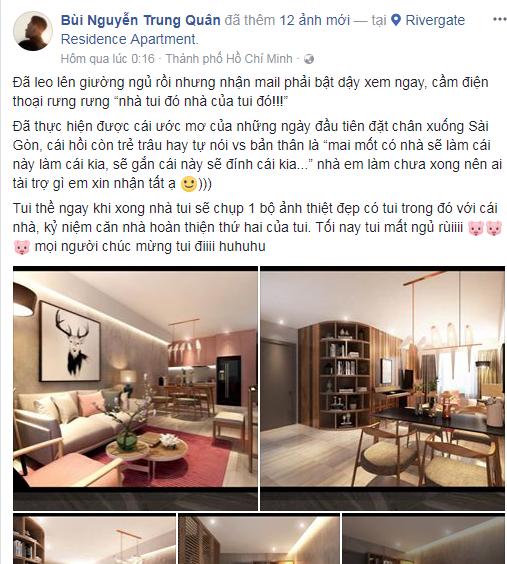 Trung Quân Idol khoe căn hộ mới mua ở TP.HCM đẹp như mơ - Ảnh 1.