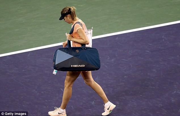 Đơn nữ Indian Wells: Sharapova dừng bước ngay ở vòng 1 - Ảnh 2.