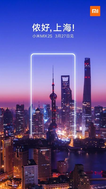 Xiaomi Mi Mix 2s sẽ ra mắt tại Thượng Hải vào ngày 27/3 - Ảnh 1.