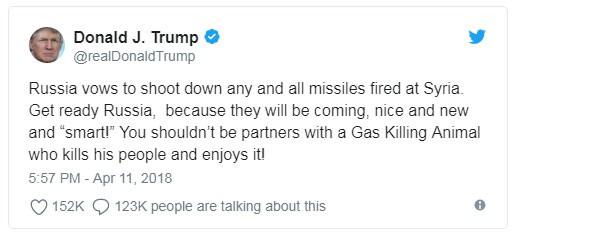 Nhà Trắng tuyên bố Tổng thống Trump chưa có kế hoạch tấn công Syria  - Ảnh 1.