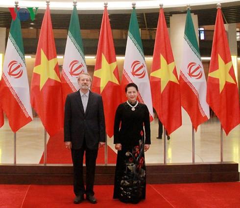 Chủ tịch Quốc hội Nguyễn Thị Kim Ngân hội đàm với Chủ tịch Quốc hội Iran - Ảnh 1.