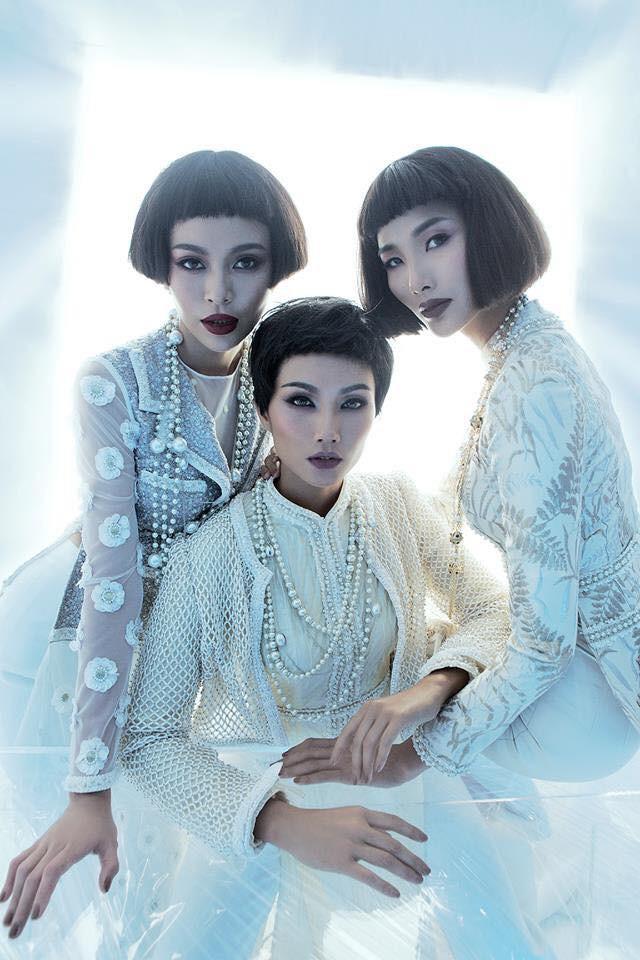 Bộ ba Hoa hậu Hoàn vũ Việt Nam 2017 ma mị trong bộ ảnh mới - Ảnh 5.