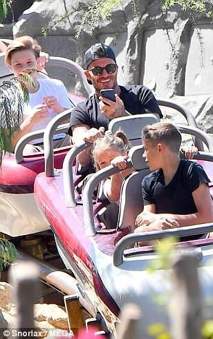 Gia đình Beckham vui vẻ đi chơi ở Disneyland - Ảnh 6.