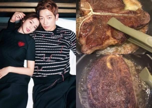 Bi Rain tự tay vào bếp nấu nướng cho Kim Tae Hee - Ảnh 3.