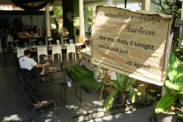 Quán cà phê trải nghiệm… chết thử ở Thái Lan - Ảnh 4.