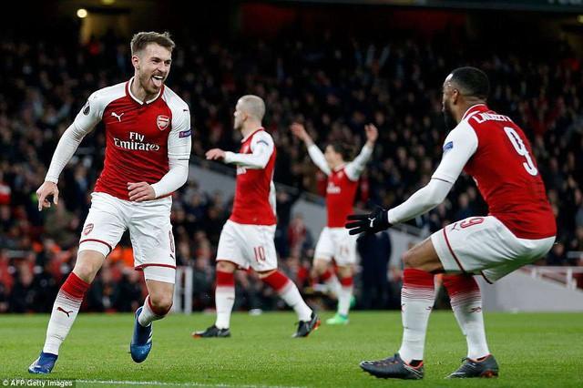 Tứ kết Europa League: Arsenal đại tiệc bàn thắng, Atletico Madrid thắng dễ - Ảnh 1.