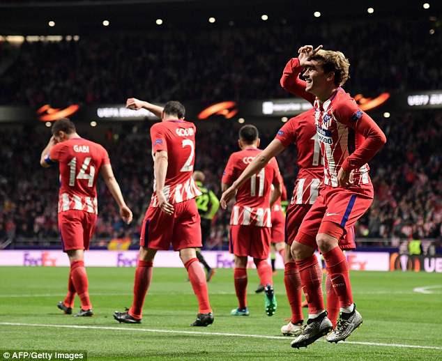 Tứ kết Europa League: Arsenal đại tiệc bàn thắng, Atletico Madrid thắng dễ - Ảnh 2.