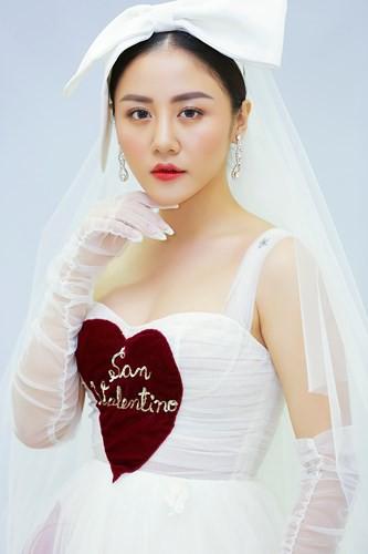 Văn Mai Hương mặc váy cưới, hóa cô dâu xinh đẹp trên truyền hình - Ảnh 6.