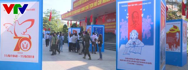 Triển lãm tranh cổ động tuyên truyền Ngày Bác Hồ ra Lời kêu gọi thi đua ái quốc - Ảnh 1.