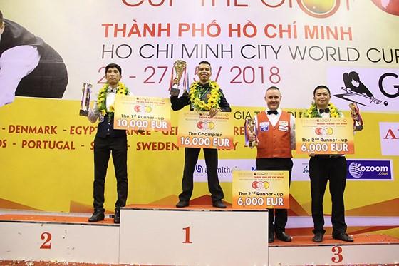 Trần Quyết Chiến lần đầu vô địch World Cup carom 3 băng - Ảnh 2.