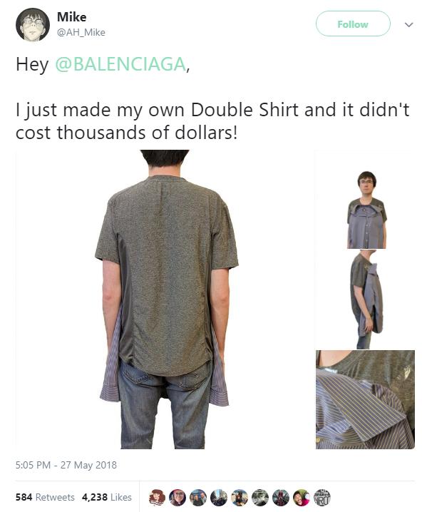 Ngất xỉu với chiếc áo sơ mi-phông giá gần 30 triệu đồng của Balenciaga - Ảnh 3.