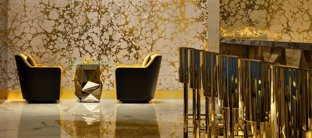 Cận cảnh quầy bar dát vàng bên trong khách sạn 7 sao - ảnh 3