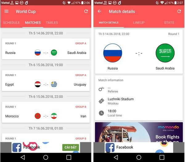 Lịch thi đấu thông minh - Ứng dụng không thể thiếu trên smartphone trong mùa World Cup 2018 - Ảnh 3.
