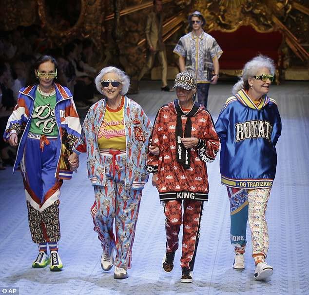 Dàn mẫu nữ U50 hội tụ trong show dành cho nam giới của Dolce & Gabbana - Ảnh 9.