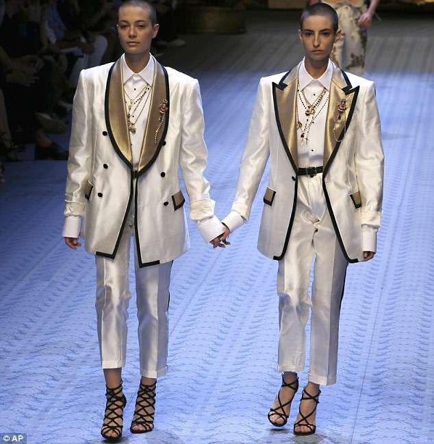 Dàn mẫu nữ U50 hội tụ trong show dành cho nam giới của Dolce & Gabbana - Ảnh 8.