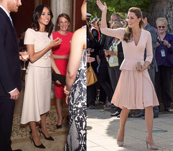 """Kate Middleton và Meghan Markle """"đụng hàng"""" trang phục: Ai đẹp hơn ai? - Ảnh 1."""