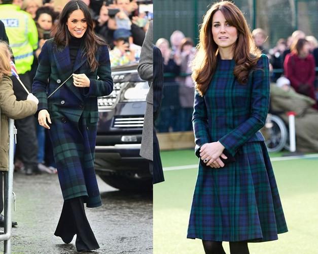 """Kate Middleton và Meghan Markle """"đụng hàng"""" trang phục: Ai đẹp hơn ai? - Ảnh 2."""