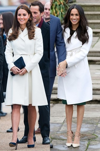 """Kate Middleton và Meghan Markle """"đụng hàng"""" trang phục: Ai đẹp hơn ai? - Ảnh 4."""