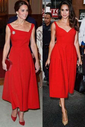 """Kate Middleton và Meghan Markle """"đụng hàng"""" trang phục: Ai đẹp hơn ai? - Ảnh 5."""