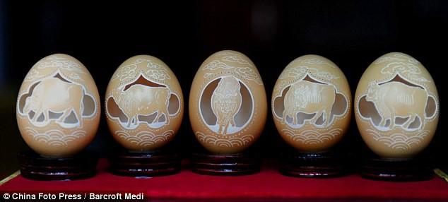 Biến vỏ trứng thành tác phẩm điêu khắc tinh xảo - Ảnh 7.