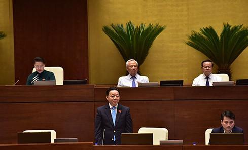TRỰC TIẾP: Bộ trưởng Bộ Tài nguyên và Môi trường Trần Hồng Hà trả lời chất vấn - Ảnh 1.