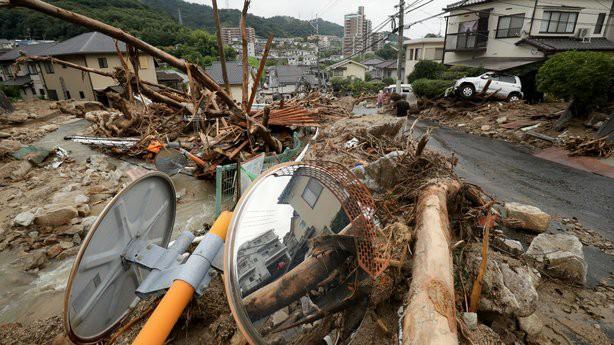 Gia tăng thương vong do mưa lũ ở Nhật Bản - Ảnh 1.