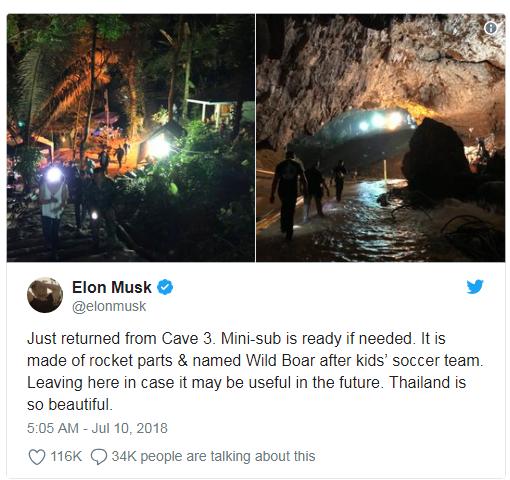 Elon Musk: Tàu ngầm mini giải cứu đội bóng nhí Thái Lan đã sẵn sàng - Ảnh 1.