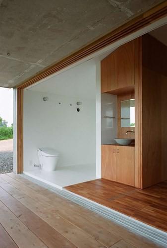 Ngôi nhà ở Nhật có thiết kế mở, gần gũi với thiên nhiên - Ảnh 8.