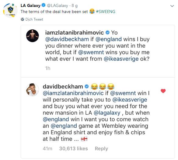 Beckham, Ibrahimovic và màn đánh cược gây bão mạng xã hội - Ảnh 1.