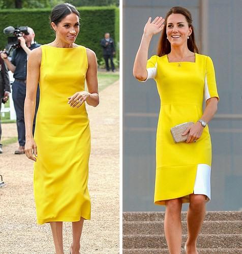 Học lỏm bí quyết thời trang sành điệu của hai nàng dâu Hoàng gia Anh - Ảnh 1.
