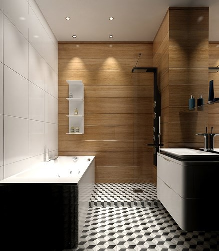 Căn hộ phong cách với màu đen, trắng và nâu gỗ - Ảnh 7.