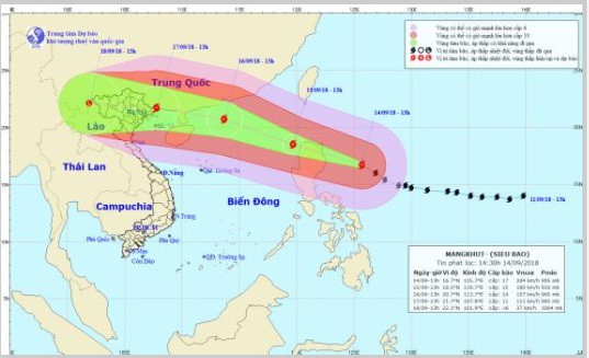 Mangkhut là siêu bão mạnh nhất thế giới đang hoạt động - Ảnh 1.