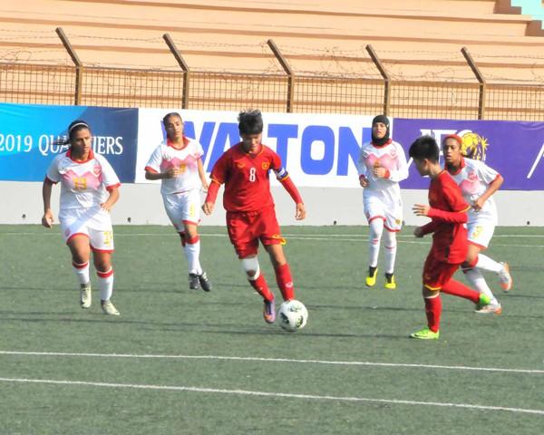 Vòng loại thứ nhất U16 nữ châu Á 2019 (bảng F): Việt Nam thắng đậm Bahrain 14-0 - Ảnh 1.