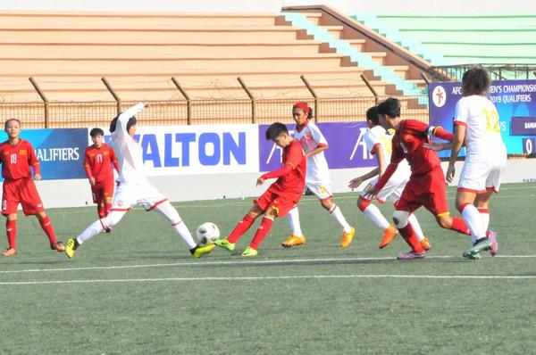 Vòng loại thứ nhất U16 nữ châu Á 2019 (bảng F): Việt Nam thắng đậm Bahrain 14-0 - Ảnh 2.