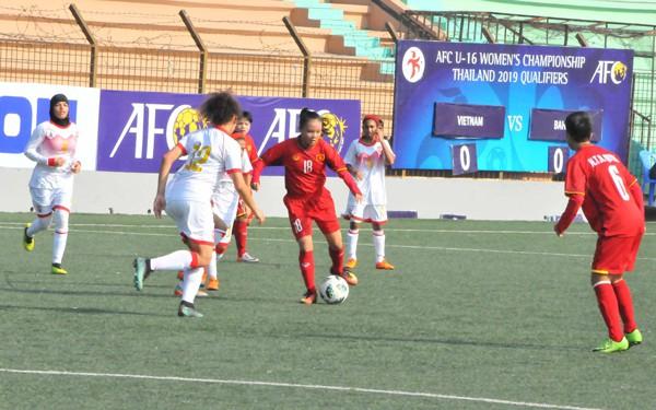 Vòng loại thứ nhất U16 nữ châu Á 2019 (bảng F): Việt Nam thắng đậm Bahrain 14-0 - Ảnh 4.