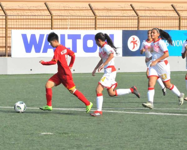 Vòng loại thứ nhất U16 nữ châu Á 2019 (bảng F): Việt Nam thắng đậm Bahrain 14-0 - Ảnh 6.