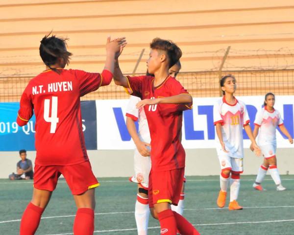 Vòng loại thứ nhất U16 nữ châu Á 2019 (bảng F): Việt Nam thắng đậm Bahrain 14-0 - Ảnh 8.