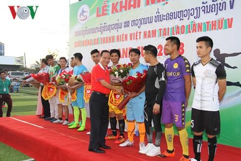 Khai mạc giải bóng đá Thanh niên Việt Nam tại Lào lần thứ V - Ảnh 1.