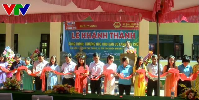 Khánh thành ngôi trường ở làng Khe Chữ, Quảng Nam sau sạt lở - Ảnh 1.