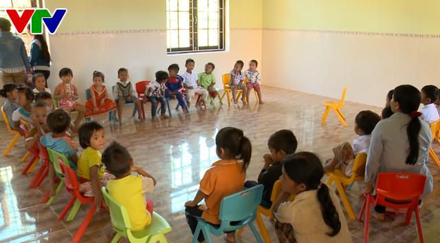 Khánh thành ngôi trường ở làng Khe Chữ, Quảng Nam sau sạt lở - Ảnh 3.