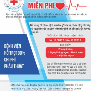 Cơ hội điều trị bệnh lý về tim miễn phí cho bệnh nhân có hoàn cảnh khó khăn - ảnh 1