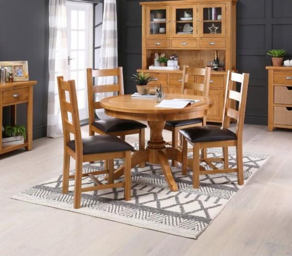 Những bộ bàn ăn gỗ mang phong cách Rustic - Ảnh 3.