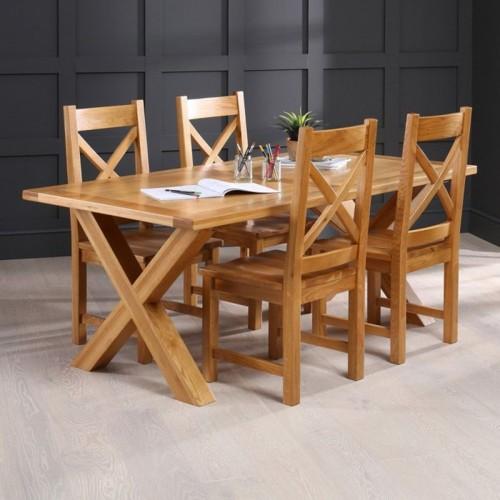 Những bộ bàn ăn gỗ mang phong cách Rustic - Ảnh 4.